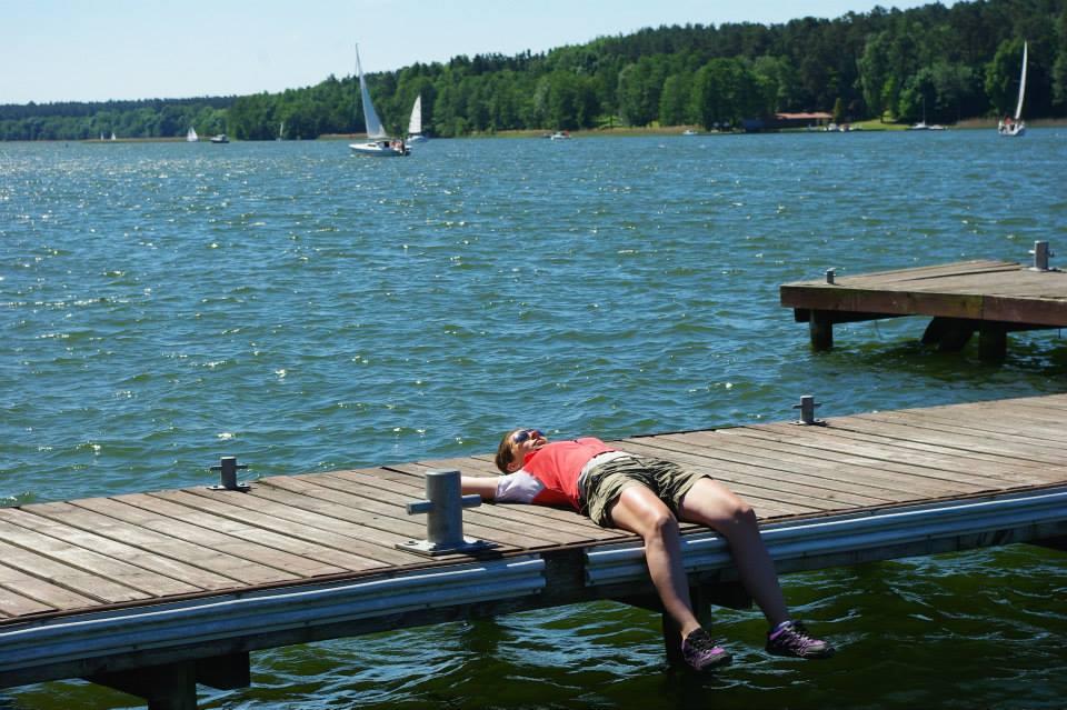 Mazury rowerem - relaks nad jeziorem