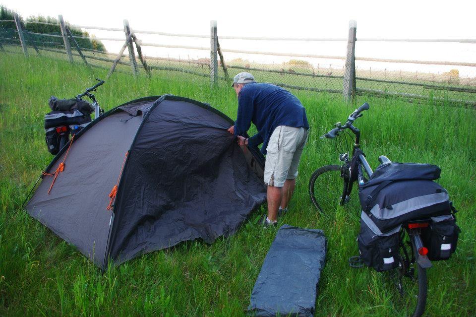 Mazury rowerem - nocleg na polanie