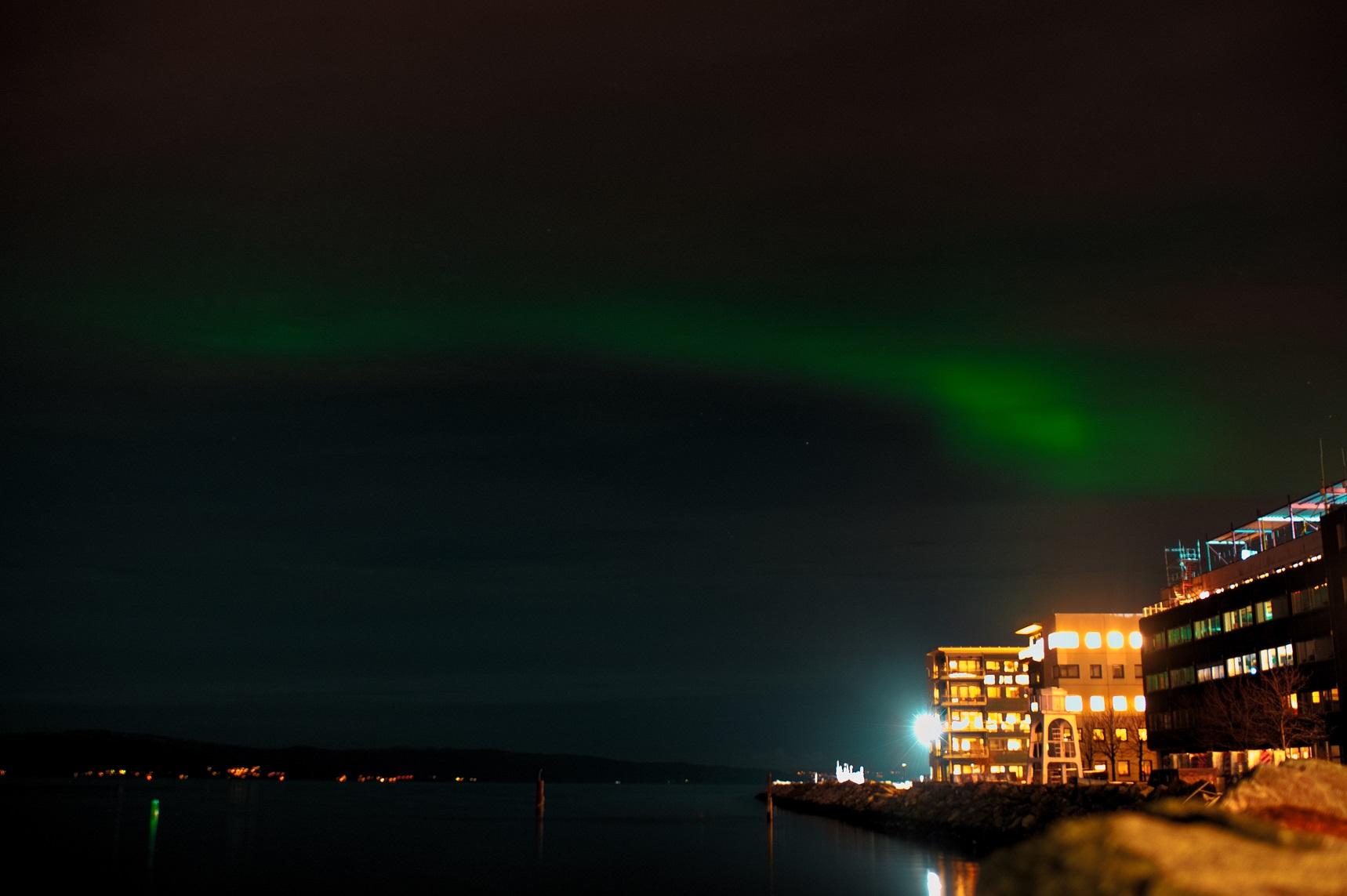 Zorza polarna w Trondheim