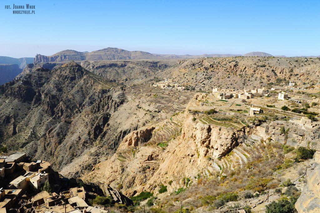 Atrakcje Omanu Jebel Akhdar
