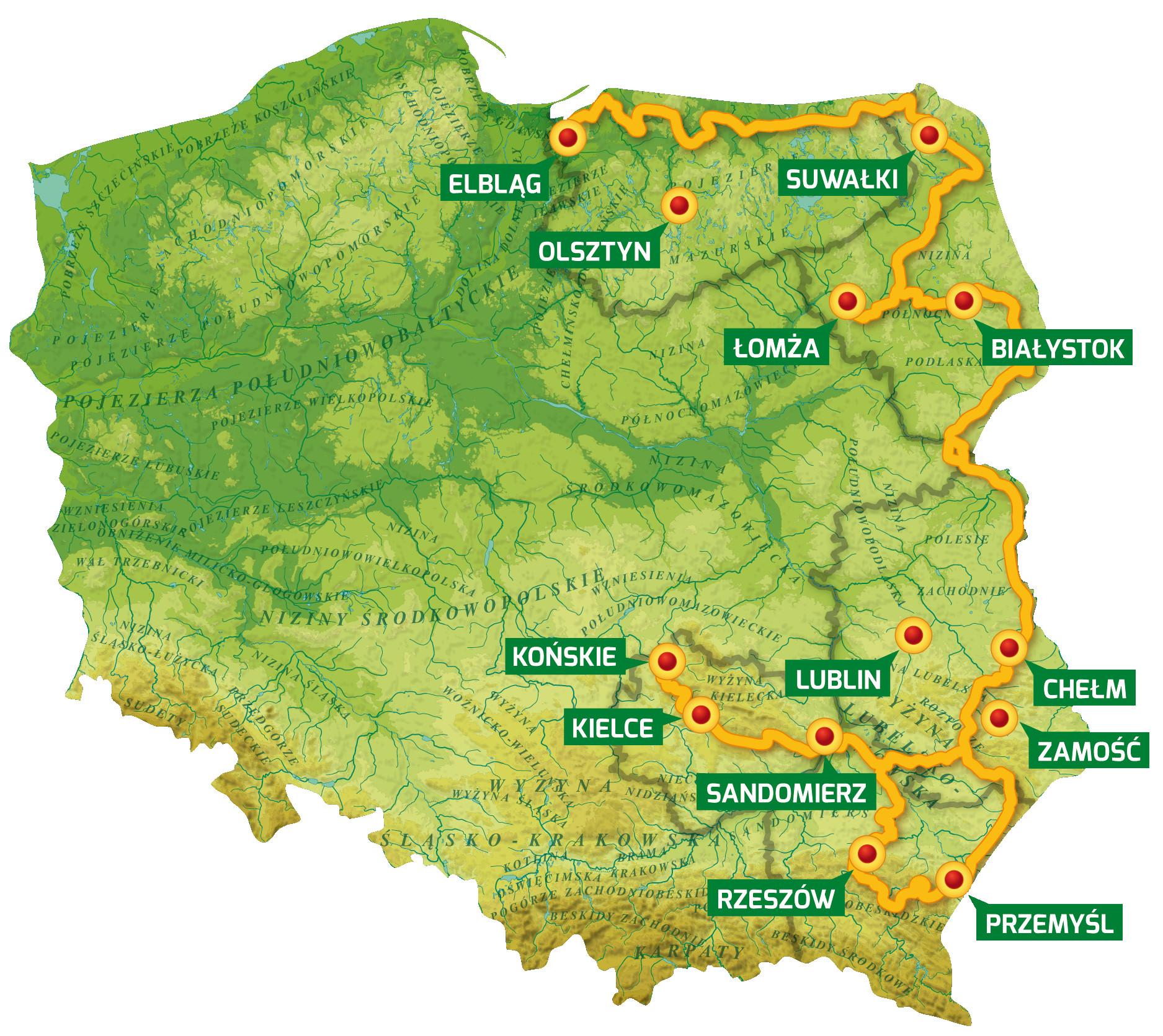 mapa green velo